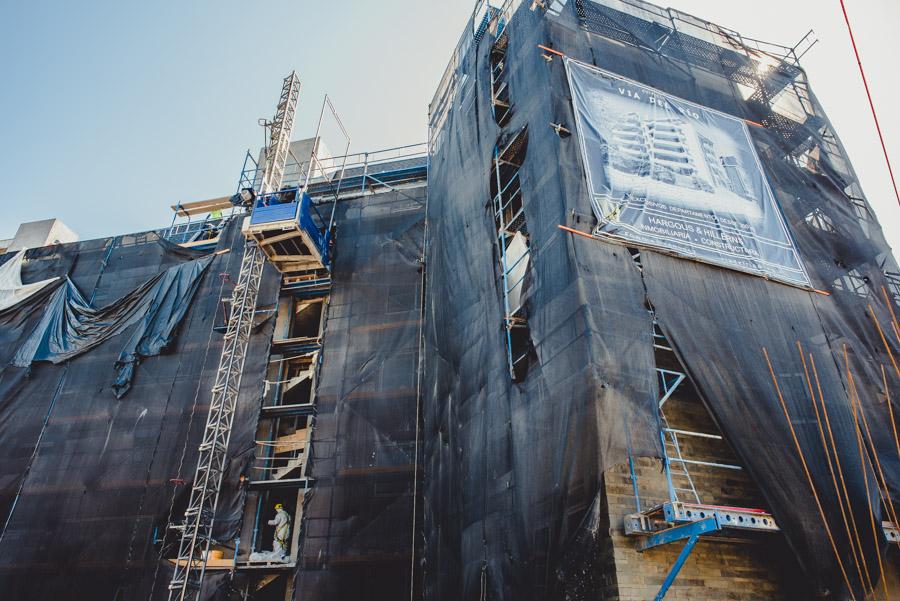 Instalación de ascensores Edificio Via del Rio Concepción
